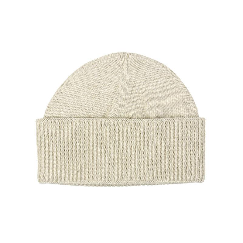 Bonnet robuste pure laine homme - écru