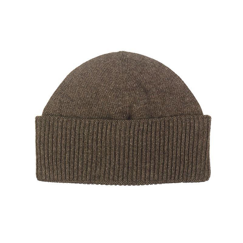 Bonnet robuste pure laine homme - marron