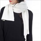 Écharpe épaisse 100% cachemire femme - écru