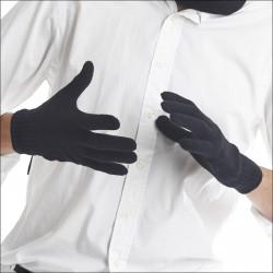Gants classiques 100% laine homme - noir