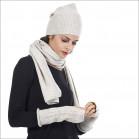 Ensemble fashion 100% laine femme - écru