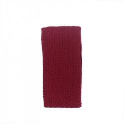 Bandeau femme pure laine - rouge