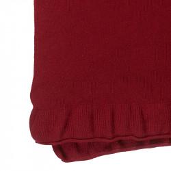Étole pure laine femme - rouge