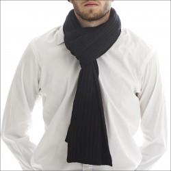 Écharpe épaisse 100% cachemire homme - noir