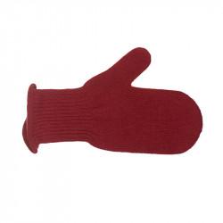 Moufles pure laine femme - rouge