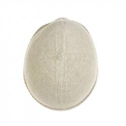 Bonnet classique pure laine femme - écru