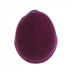 Bonnet classique pure laine - prune