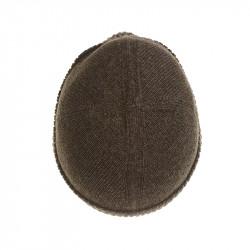 Bonnet classique pure laine - marron