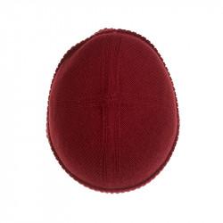 Bonnet classique pure laine - rouge