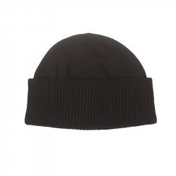 Bonnet robuste 100% laine homme - noir