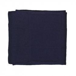 Écharpe classique cachemire femme - bleu marine