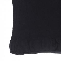Grand châle pure laine femme - noir