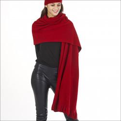 Étole pure laine mérinos baby - rouge