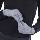 Gants brillant cachemire femme - gris
